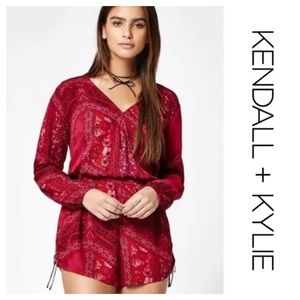 Red Boho Romper by Kendall & Kylie. Size small